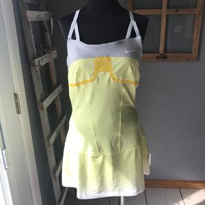 Nike Dri-Fit Yellow Gray Court Tennis Dress M